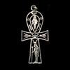 Bijoux Croix Ankh Avec Hathor En Argent