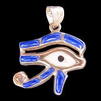 Bijoux Oeil D'Horus En Argent Avec Incrustation Lapis-Lazuli Et Nacre - 40Ko