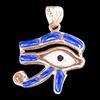Bijoux Oeil D'Horus (Oudjat) En Argent Avec Incrustation Lapis-Lazuli Et Nacre