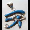 Bijoux Oeil D'Horus (Oudjat) En Argent Avec Incrustation Turquoise