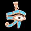 Bijoux Oeil D'Horus (Oudjat) En Argent Avec Incrustation Turquoise Et Nacre