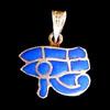 Bijoux Pendentif Oeil D'Horus (Oudjat) En Argent Avec Incrustation Lapis-Lazuli
