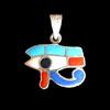 Bijoux Pendentif Oeil D'Horus (Oudjat) En Argent .
