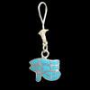 Bijoux Boucles D'oreille Oeil D'Horus (Oudjat) En Argent Avec Incrustation Turquoise