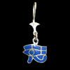 Bijoux Boucles D'oreille Oeil D'Horus (Oudjat) En Argent Avec Incrustation Lapis-Lazuli