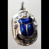 Bijoux Scarabée Bleu Lapis- Lazuli En Argent