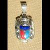 Bijoux Scarabée Cornaline, Lapis-Lazuli Et Turquoise En Argent
