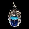 Bijoux Scarabée Bleu Lapis-Lazuli Et Turquoise En Argent