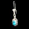 Bijoux Boucles D'oreille Scarabée En Argent Avec Incrustation Turquoise
