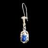 Bijoux Boucles D'oreille Scarabée En Argent Avec Incrustation Lapis-Lazuli