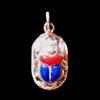 Bijoux Scarabée En Argent Avec Incrustation Lapis-Lazuli Et Cornaline