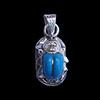 Bijoux Scarabée En Argent Avec Incrustation Turquoise