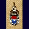 Bijoux Scarabée Bleu Lapis-Lazuli Et Cornaline En Argent 800/1000