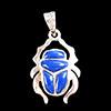 Bijoux Scarabée Aille Lapis-Lazuli En Argent