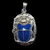 Bijoux Scarabée Bleu Lapis-Lazuli En Argent