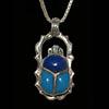 Bijoux Scarabée En Argent Avec Incrustation Turquoise Et Lapis-Lazuli