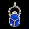 Bijoux Scarabée En Argent Avec Incrustation Lapis-Lazuli