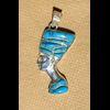 Bijoux Profil De Néfertiti En Argent Avec Incrustation Turquoise