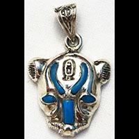 Bijoux Pharaonique Tête De Lionne De Toutankhamon En Argent - 42Ko
