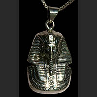 Bijoux Pharaonique Masque D'or De Toutankhamon En Argent - 35Ko