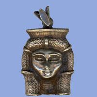 Bijoux Pharaonique Tête D'Hathor En Argent - 29Ko
