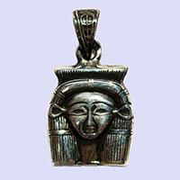 Bijoux Pharaonique Tête D'Hathor En Argent - 33Ko