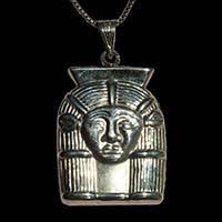 Bijoux Pharaonique Tête D'Hathor En Argent - 34Ko