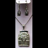 Parure Pharaonique Tête D'Hathor En Argent - 31Ko
