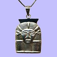 Parure Pharaonique Tête D'Hathor En Argent - 36Ko