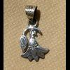 Bijoux Lotus Argent Avec Incrustation Onyx