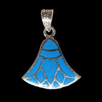 Bijoux Pharaonique Lotus Argent Avec Incrustation Turquoise - 32Ko