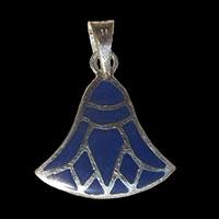 Bijoux Pharaonique Lotus Argent Avec Incrustation Lapis-Lazuli - 31Ko