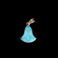 Bijoux Pharaonique Lotus Argent Avec Incrustation Turquoise - 22Ko