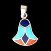 Bijoux Lotus Argent Avec Incrustation Turquoise, Lapis-Lazuli Et Cornaline