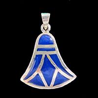 Bijoux Lotus Argent Avec Incrustation Lapis-Lazuli - 25Ko