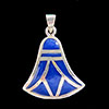 Bijoux Lotus Argent Avec Incrustation Lapis-Lazuli