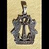 Bijoux 2 Uraeus Protégeant La Croix Ankh En Argent