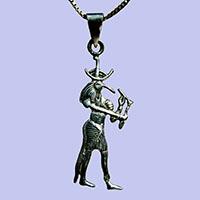 Bijoux Pharaonique : Le Dieu Thot En Argent 800/1000 - 30Ko