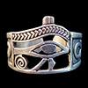 Bijoux Bague Chevalière Oeil D'Horus Argent
