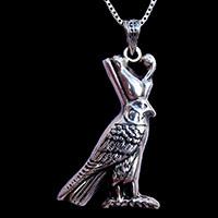 Bijoux Pharaonique: Horus D'Edfou En Argent 800/1000 - 32Ko