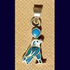 Bijoux AmuletteHorus En Argent Avec Incrustation