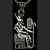 Bijoux AmuletteHorus Sur Son Trone En Argent
