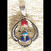 Bijoux AmuletteScarabée Portant Le Soleil En Argent