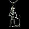Bijoux AmulettePharaon Délimitant L'espace Du Temple En Argent