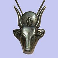 Bijoux Déesse Vache Hathor En Argent 800/1000 - 34Ko