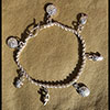 Bijoux Chaîne De Cheville Avec 7 Pendants Argent