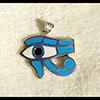Bijoux Pendentif Oeil D'Horus (Oudjat) En Argent Avec Incrustation Turquoise