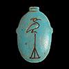 Pendentif En Stéatite Amulette  De Coeur  Avec  Le Phoenix  Représentant L Oiseau De La Résurrection
