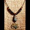 Collier Pendentif Amulette Oeil D'Horus Et Scarabee