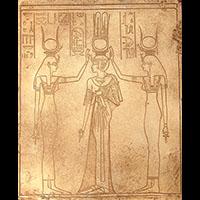 Nefertari Entre Les Déesses Isis Et Hathor - 33Ko